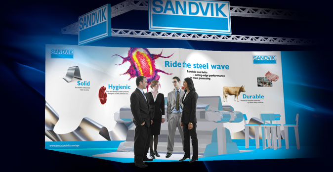 Exhibition design as part of BRC corporate identity